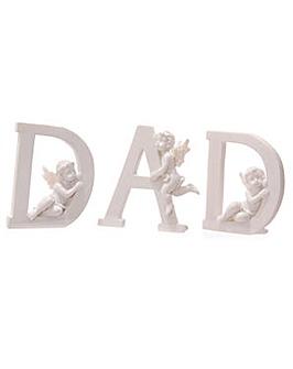 White DAD Cherub Letters Set