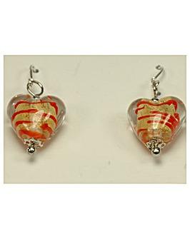 Sterling Silver Murano Glass Earrings