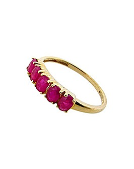 9ct Yellow Gold Ruby Ring
