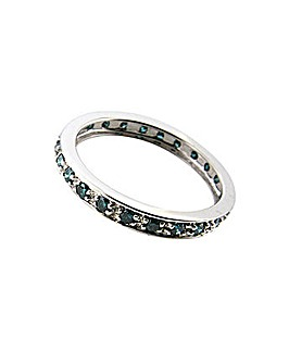 9ct WG Blue Diamond Eternity Ring