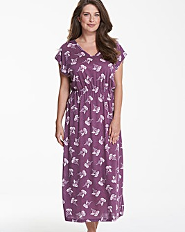 Pretty Secrets Berry Floral Print Kaftan