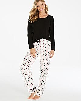 Pretty Secrets Frill Detail Pyjama Set