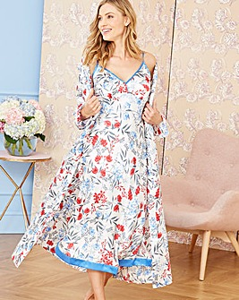 Pretty Secrets Satin Floral Chemise