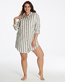 Pretty Secrets Woven Stripe Sleepshirt
