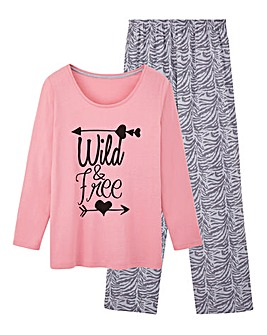 Pretty Secrets Motif Pyjama Set