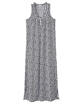 Pretty Secrets Printed Maxi Nightie 48""