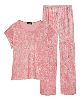 Club L Luxury Crushed Velvet Pyjamas