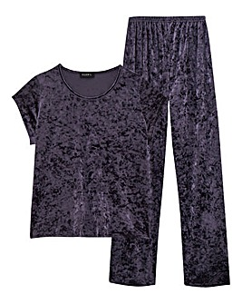Club L Crushed Velvet Pyjamas