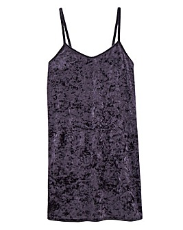 Club L Luxury Crushed Velvet Chemise