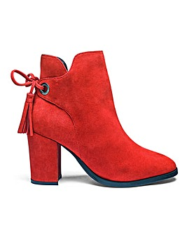 Heavenly Soles Suede Ankle Boots E Fit