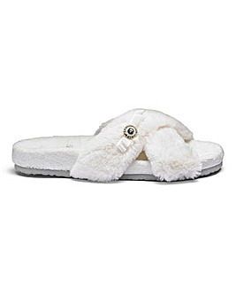 Pretty You Footbed Mule Slippers