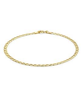 9Ct Gold Flat Curb Bracelet