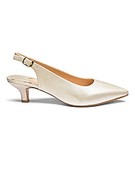 Heavenly Soles Slingback Shoes E Fit