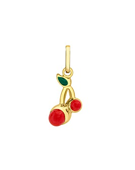 9Ct Gold Enamel Cherries Charm