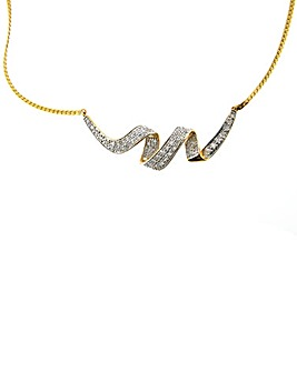 9ct Yellow Gold 0.50ct Diamond Necklace