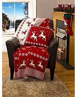 Cascade home Reindeer Throw