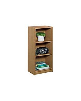 Maine Half Width Small Deep Bookcase Oak