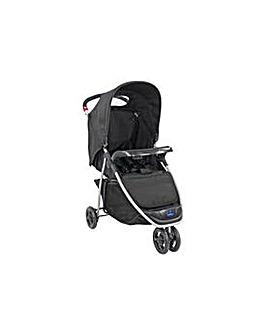 BabyStart Ria Black 3 Wheeler Pushchair.