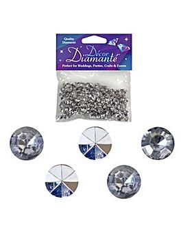Decor Diamonte Diamonds Silver x 6