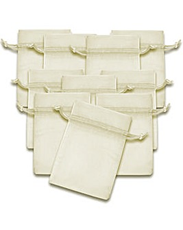 Organza Favor Bags Ivory x 10