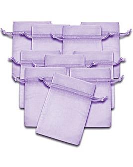 Organza Favor Bags Lavender x 10