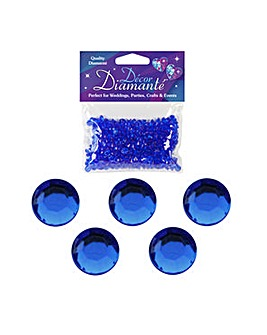 Decor Diamonte Diamonds Sapphire Blue x6