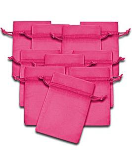Organza Favor Bags Fuchsia x 10