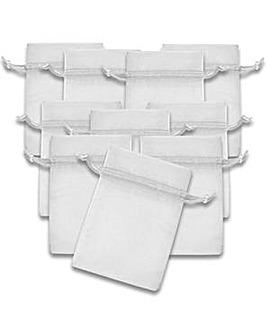 Organza Favor Bags White x 10
