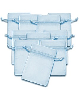 Organza Favor Bags Light Blue x 10