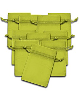 Organza Favor Bags Pistachio x 10
