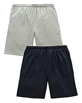 JCM Sports Pack of 2 Fleece Shorts