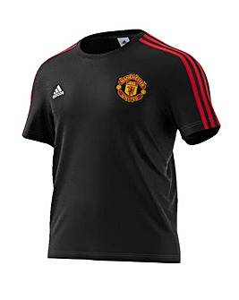Manchester United Replica 3 Stripe Tee