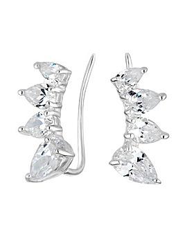 Simply Silver peardrop ear climber