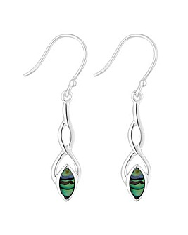 Simply Silver abalone twist earring