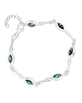 Simply Silver abalone twist bracelet