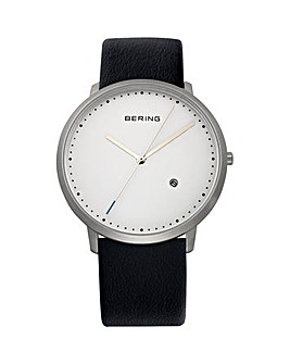 Bering Gents White Dial Strap Watch