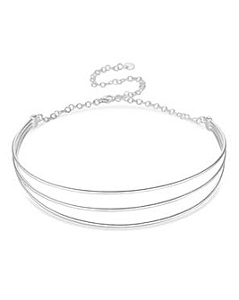 Simply silver statement choker