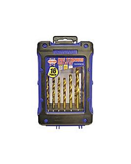 Hss Titanium Drill Set 16pc 1 - 8mm