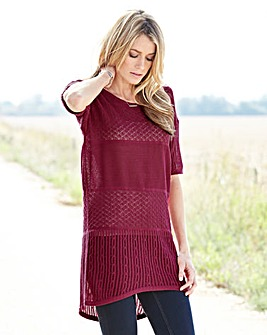 Open Work Longline Jumper