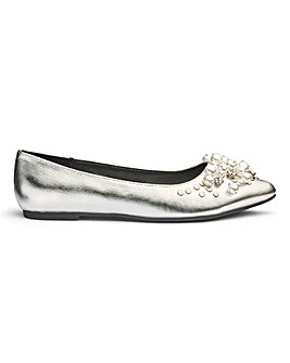 Sole Diva Breanna Jewelled Shoe EEE Fit