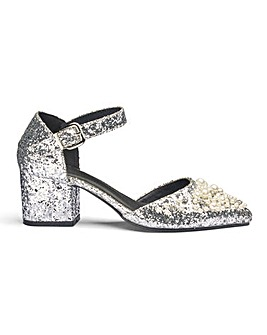 Sole Diva Emma Embellished Heels E Fit