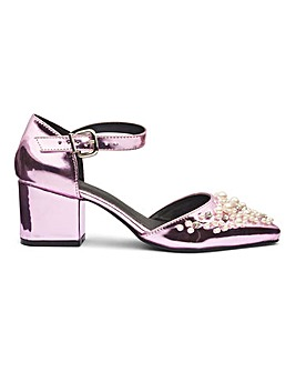 Sole Diva Emma Embellished Heels EEE Fit