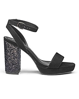 Sole Diva Ally Glitter Platforms EEE Fit