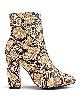 Daisy Street Snakeskin Ankle Boots