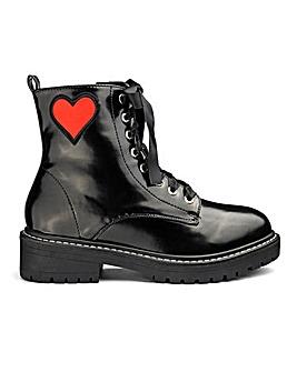 Daisy Street Badge Detail Chunky Boots