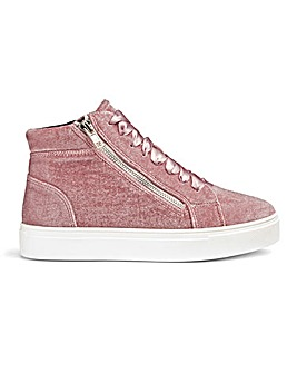 Sole Diva Rosa Velvet Hi Tops E Fit