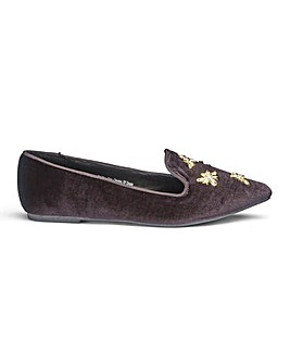 Sole Diva Lilian Velvet Bug Shoes EEE