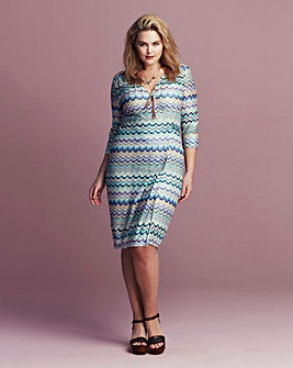 Traffic People Zig Zag Wrap Dress