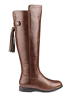 Katie Leather Boot Super Curvy EEE Fit