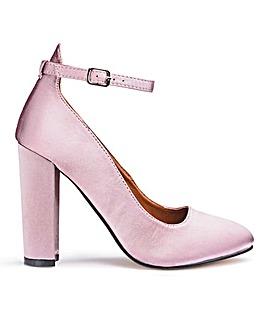 Glamorous Satin Ankle Strap Shoe